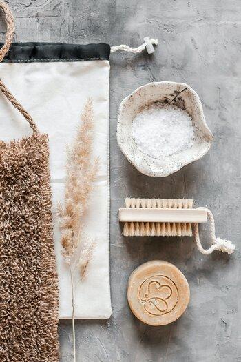 Scrubzout, borstel en zeep