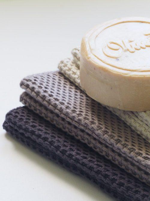Shampoo bar en handdoekken