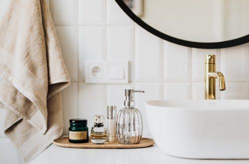 Badkamer met producten