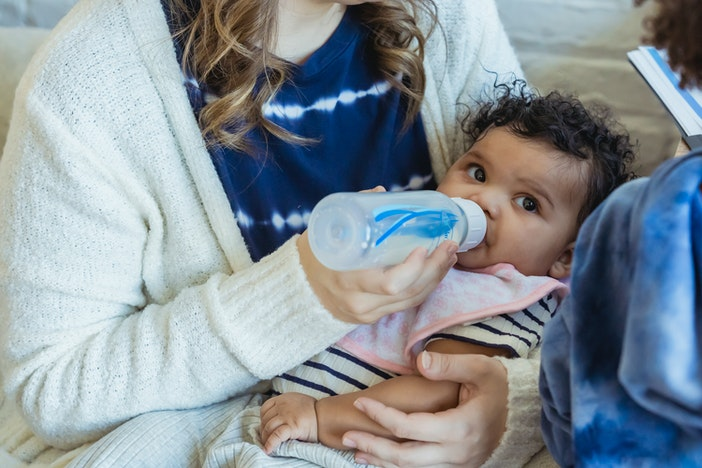 glazen drinkfles baby